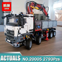 LEPIN Technic Model 20005 Building Block Bricks Compatible Legoing Technic 42043 Mercedes Arocs Power Function Toys