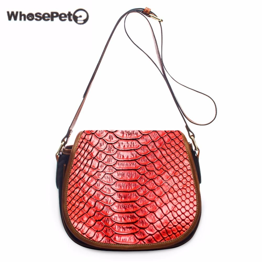 WHOSEPET Serpentine Woman's Small Messenger Bags Girls Fashion Satchel Handbag Leisure Cower Sling Bag Unique Shoulder Bag New цены онлайн