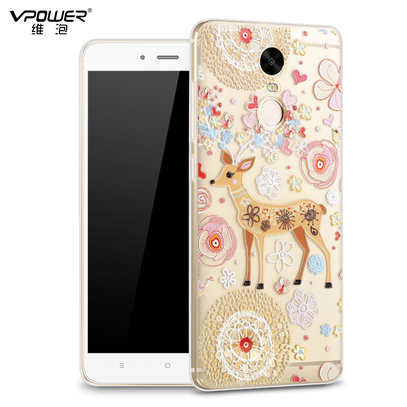 Vpower 3D Relief Cartoon Back Cover para Xiaomi Redmi Note 4x Funda - Accesorios y repuestos para celulares - foto 3