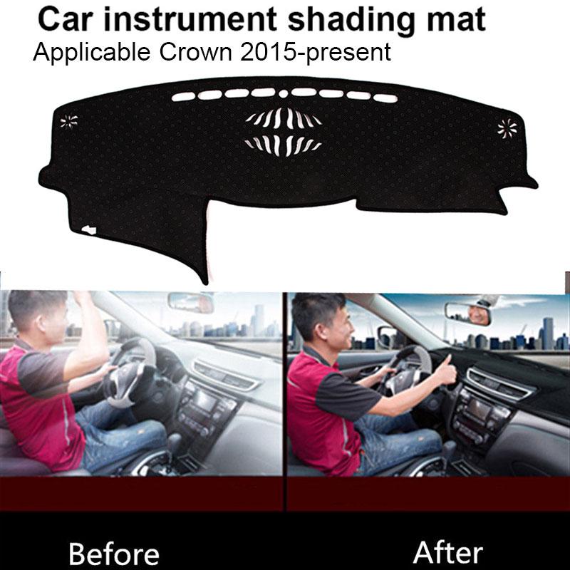 Vehemo силиконовая Нескользящая Солнцезащитная Накладка для машины коврик для приборной панели коврик для левого водителя сиденье для запчасти для двигателей крышка приборной панели черные тёмные очки