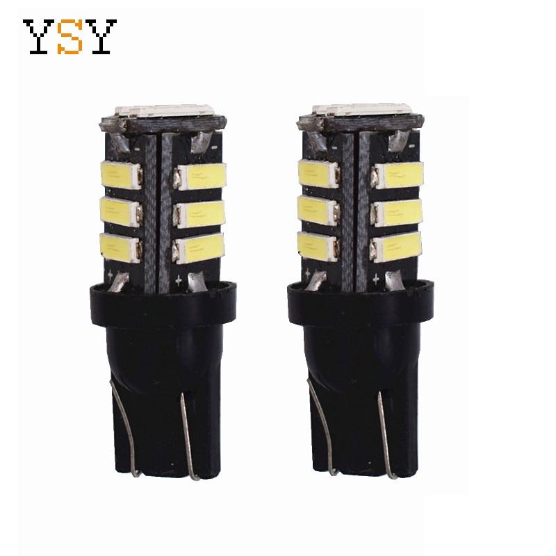 500PCS High Quality DC12V Car LED Lights W5W T10 7020 11SMD Wedge Light Car Brake Rear
