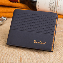 New Fashion Short Mens Wallets PU Leather Bifold Male Wallets Large Capacity Bank Cards Holder Business Wallet Personality Purse