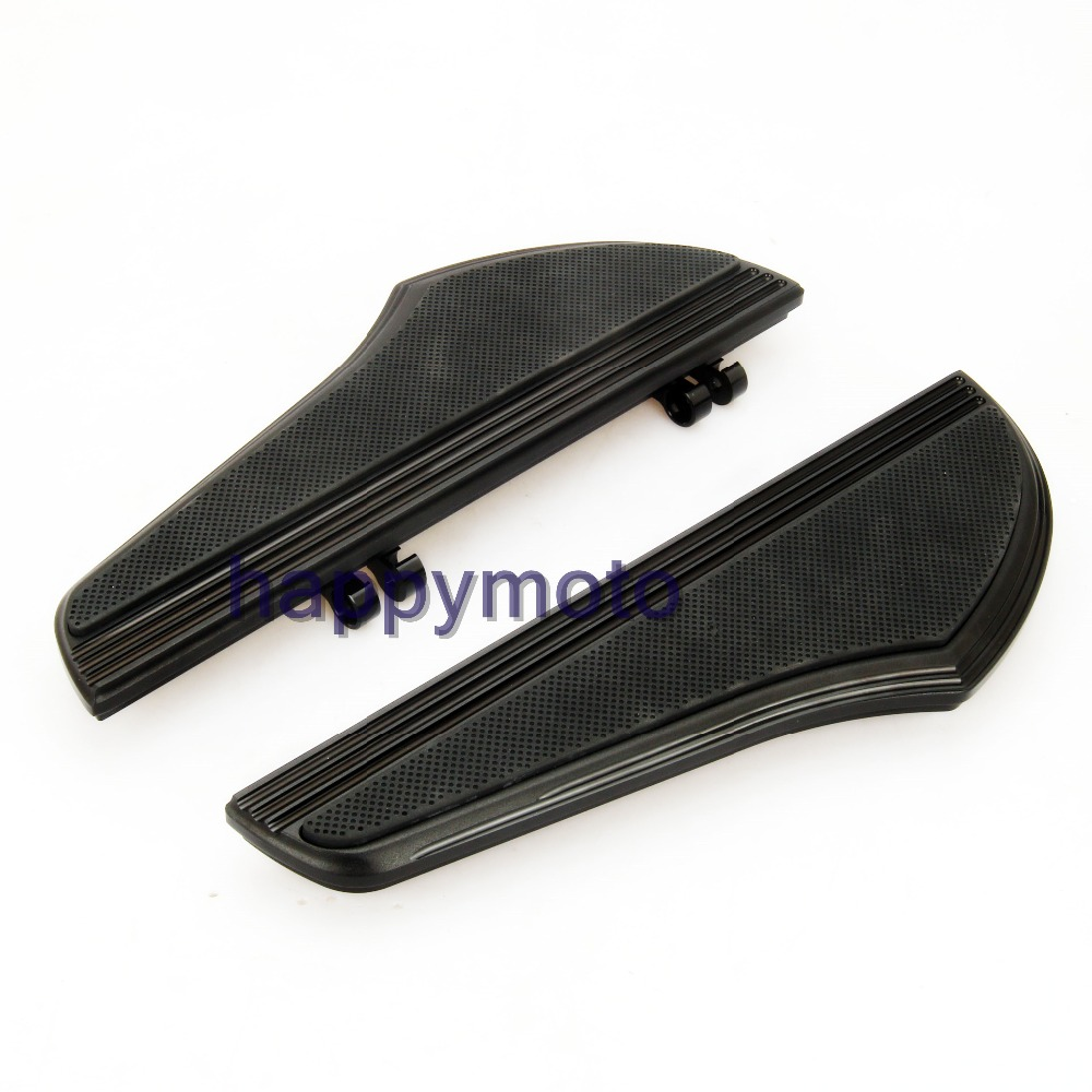Motorcycle Black Deep Edge CNC Driver Floorboards For Harley Touring Softail Street Road Glide Fat Boy Heritage FLHT Dyna