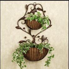 European garden iron flower stand wall hanging pot