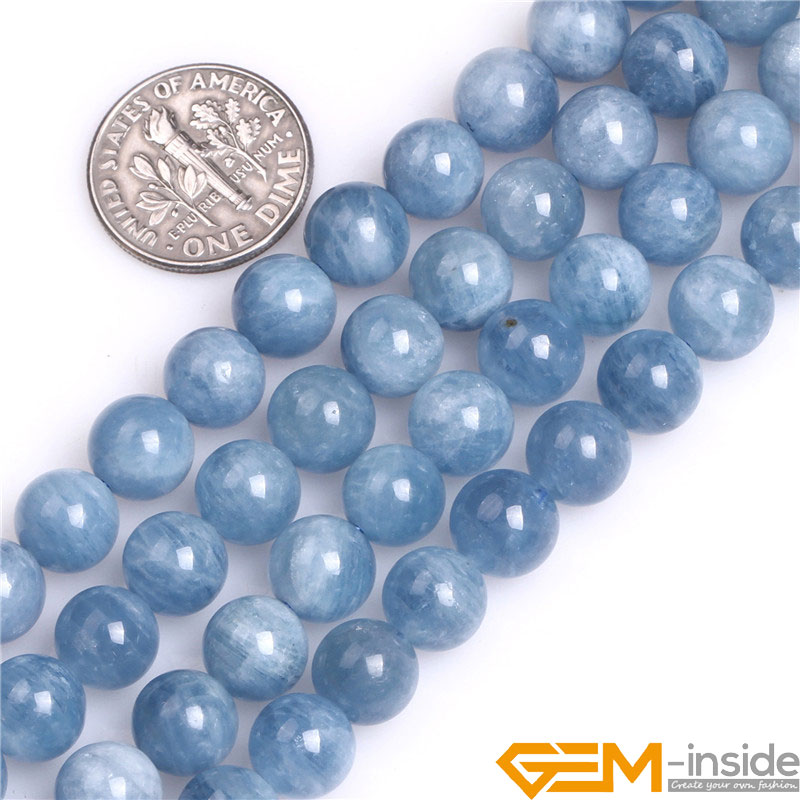 Round AA Grade Aquamarines Quartzs Beads Selectable Size 6mm 8mm 10mm 12mm Natural Stone Beads Loose Beads For Jewelry Making