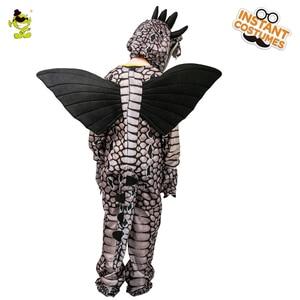 Image 5 - Kids Dinosaur Triceratops/Tyrannosaurus/Stegosaurus Costume Cosplay Mascot Animal Clothes Role Play for Halloween Party