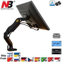 """NB F80 Desktop17-2"""" ЖК-дисплей светодиодный держатель для монитора рука газовая пружина полный движение газовая стойка Flexi тв крепление загрузка 2-6.5 кг"""