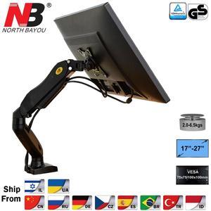 "NB F80 Desktop17-27"" LCD LED Monitor Holder Arm Gas Spring Full Motion Gas Strut Flexi TV Mount Loading 2-6.5kgs(China)"