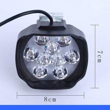 Светодиодный светильник для электровелосипеда 24 в 36 в 48 в 60 в 72 в 15 Вт, водонепроницаемый головной светильник для электрического велосипеда, мотоцикла, передний светильник