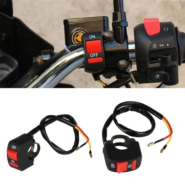 Универсальная Кнопка руля пулевидный разъем moto rcycle moto Trail фара выключатель света Светодиодная лампа ВКЛ. Для moto bycle переоборудована