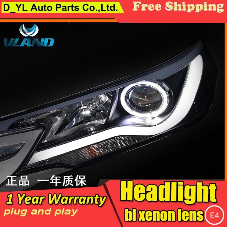 D YL Auto Styling voor Toyota C RV Koplampen 2013 2015 C RV LED Koplamp DRL Bi Xenon Lens Hoge Dimlicht parking Fog Lamp