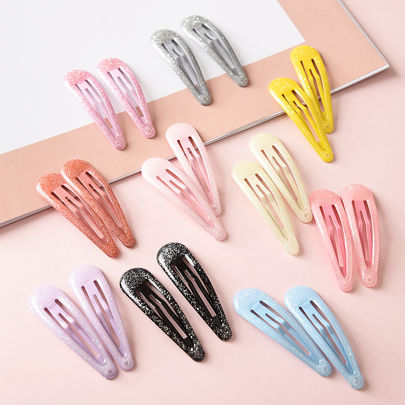 New BB Clips 8 Colors Allergy Free Hair Accessories Kids Children Barrettes Dreamlike Gradation Powder Alloy BB Clips Headwear