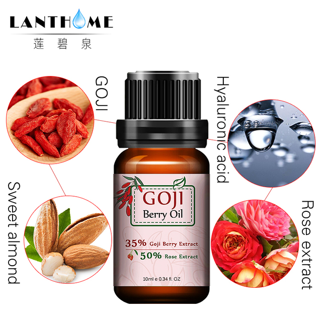Anti-wrinkle anti-aging Hyaluronic acid goji berry Essential oil rose aroma Chinese Wolfberry Facial Serum cream whitening