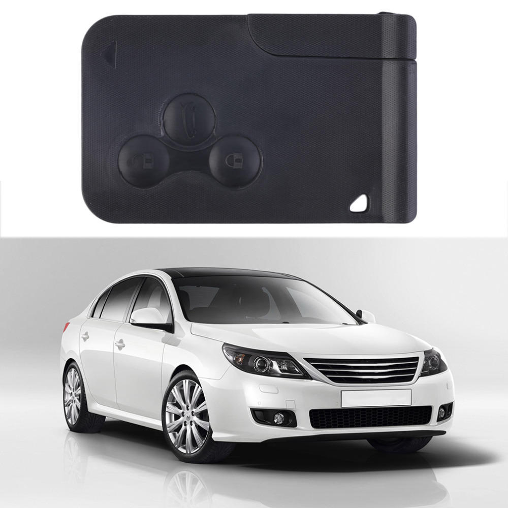 AUTO Hot selling Car 3 Buttons Smart Remote Control Key Fob Case Shell Card For Renault free shipping