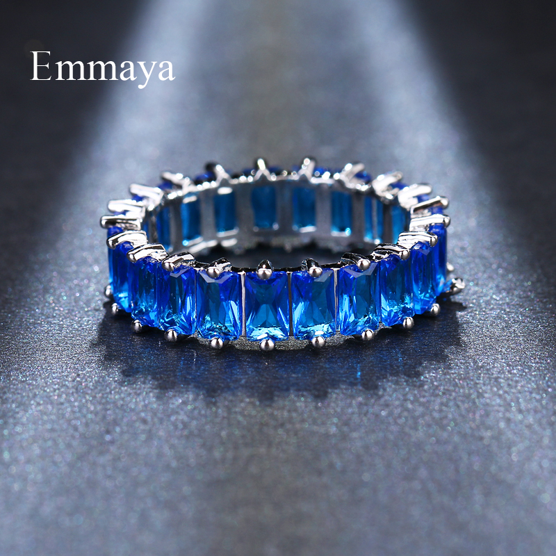 HTB1TPima7H0gK0jSZPiq6yvapXaL - EMMAYA Silver Color Unique Design CZ Ring Paved Austrian Zircon Fashion Women Ring Jewelry