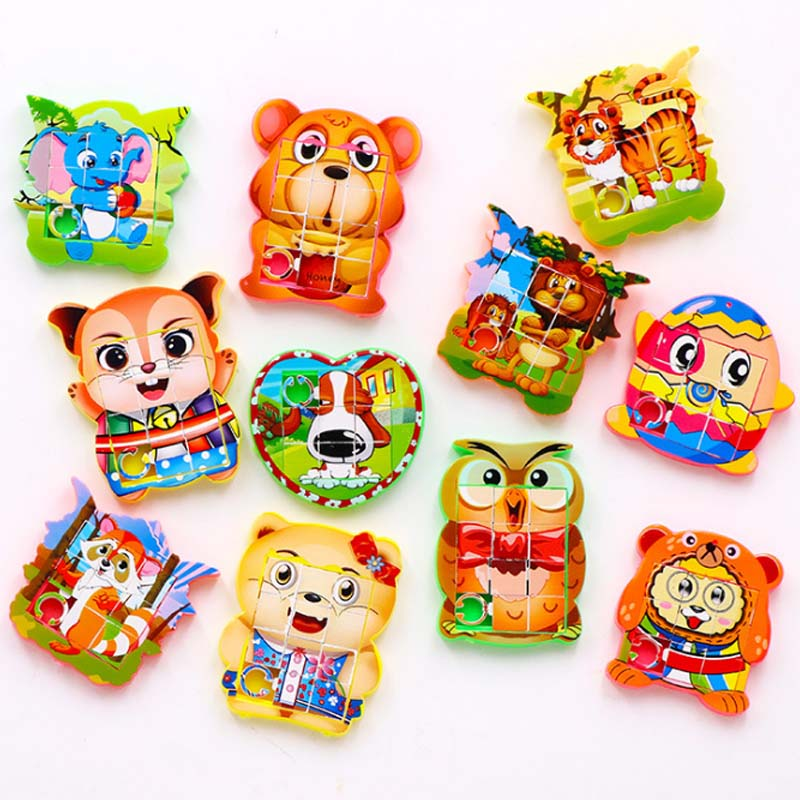 10PCS Kids Birthday Party Favors Mini Move Puzzle Toy Happy Birthday Gift Baby Shower Souvenir Baptism Gift Girl Boy