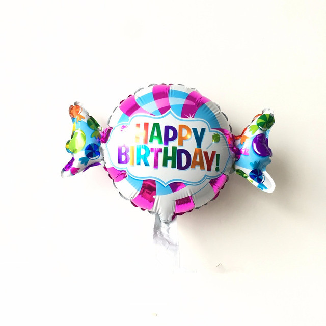 1pcs Mini Candy aluminum Balloon happy Birthday foil balloon birthday Party Cartoon Decoration Helium Inflatable Foil Balloons