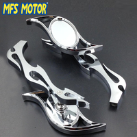 Motorcycle Accessories CHROME Billet Running Mirrors for Motorcycle Harley Dyna Wide Glide V Rod Flame
