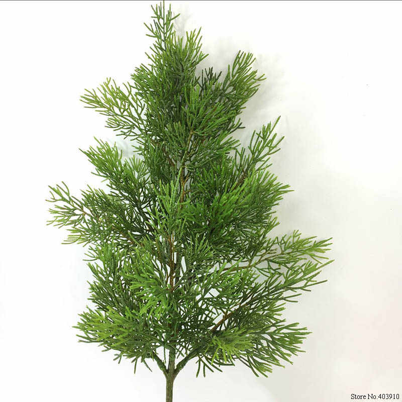 Planta Artificial Falso Hoja Verde árbol de ciprés Árbol De Navidad Decoración Hogar Jardín