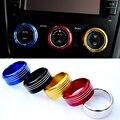 3 Pçs/set Carro Styling Interior Da Liga De Alumínio Ar Condicionado Interruptor Botões de Controle de Anel de Acabamento Para Subaru Forester XV