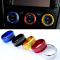 3 Pcs/Set Car Styling Aluminum Alloy Interior Air Conditioning Switch Control Knobs Trim Ring For Subaru Forester XV