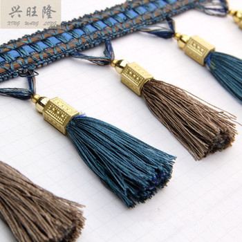 XWL 12Yards/lot 12cm Wide Curtain Lace Accessories Beads Tassel Fringes Trim Ribbon DIY Curtain Sofa Tablecloth Valance Sewing