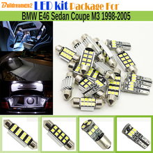 Buildreamen2 Car 2835 Interior LED Bulb Canbus LED Kit Package White Dome Map Trunk Light For 1998-2005 BMW E46 Sedan Coupe M3