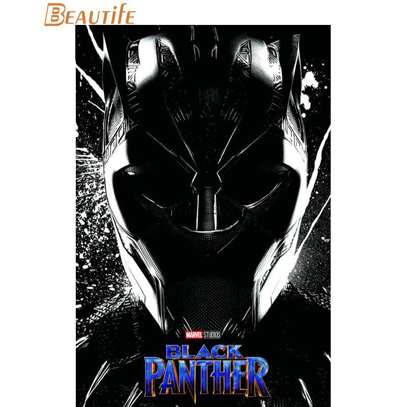 Black Panther Marvel New Custom Silk Poster Wall Decor
