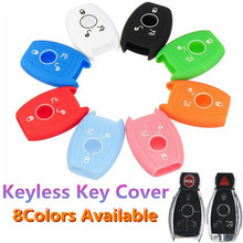 2019 Silicone Key Case Soft Plastic Bag 3 Buttons Cover Car Remote Control for Mercedes-Benz E/C/CL/GL/SLK