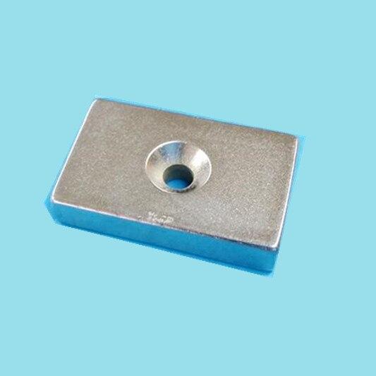 20PCS 40x25x8 Powerful Strong Rare Earth Block NdFeB Countersunk Magnet Hole 5mm 40 x 25 x 8 Neodymium Magnets 40*25*8 -5 40 x 10 x 5mm powerful ndfeb magnet silver 2 pcs