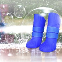 4pcs Pet Dog Shoes Waterproof Rain Pet Shoes for Small Dogs Puppy Rubber Boots Candy Color Puppy Shoes Pet Dog ProductsHigh Gang