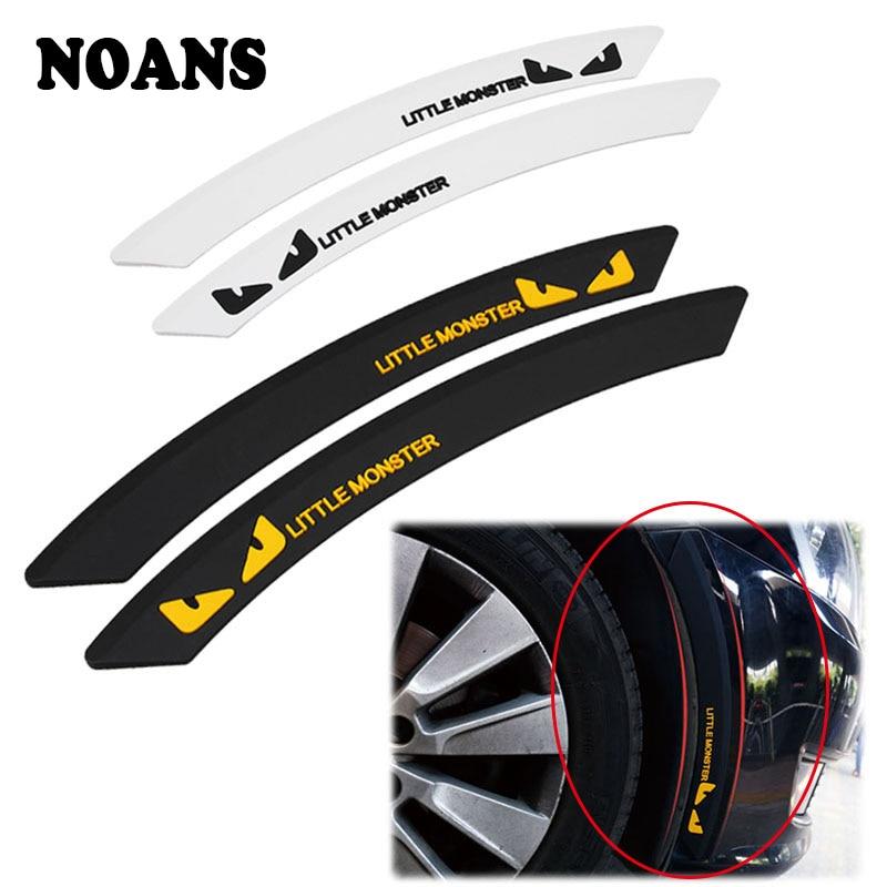 2X Car Fender Wheel Eyebrow Protector Stickers For Citroen C5 C4 Mini Cooper Audi A3 8P 8V 8L Q5 Q7 A4 B8 B6 B7 B9 A5 A6 C6 C7