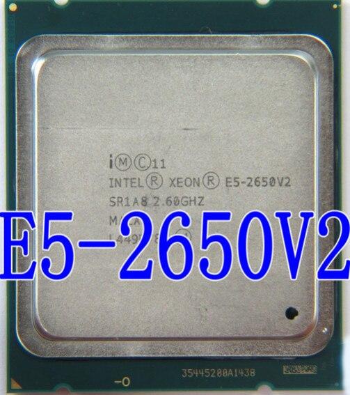 Intel Xeon Processor E5-2650 V2 E5 2650 V2 CPU 2.6GHZ LGA 2011 SR1A8 Octa Core Desktop processor e5 2650V2 can work