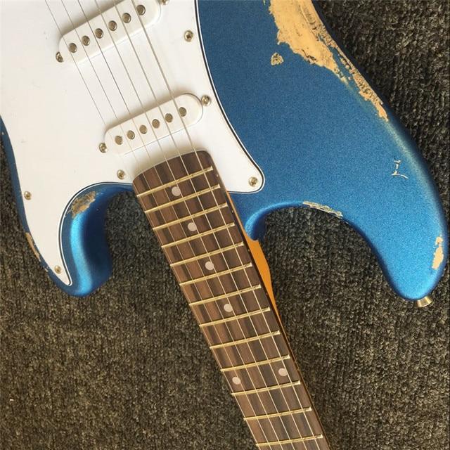 Custom Relic metal blue paulownia wood body ST 5