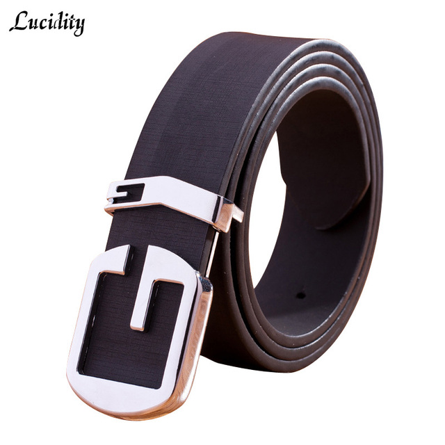 34df68ccbc Lucidity Belt Fashion Men Branded Fashion Alphabet PU Leather Designer  Belts Men Jeans All Match Luxury Men's Belts -in Belts & Cummerbunds from  Men's ...