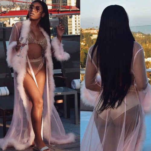 49eb24e2153 ... Sexy Women Lingerie Set Lace Dress Long Robe Gown Babydoll Nightwear  Sleepwear Dress ...