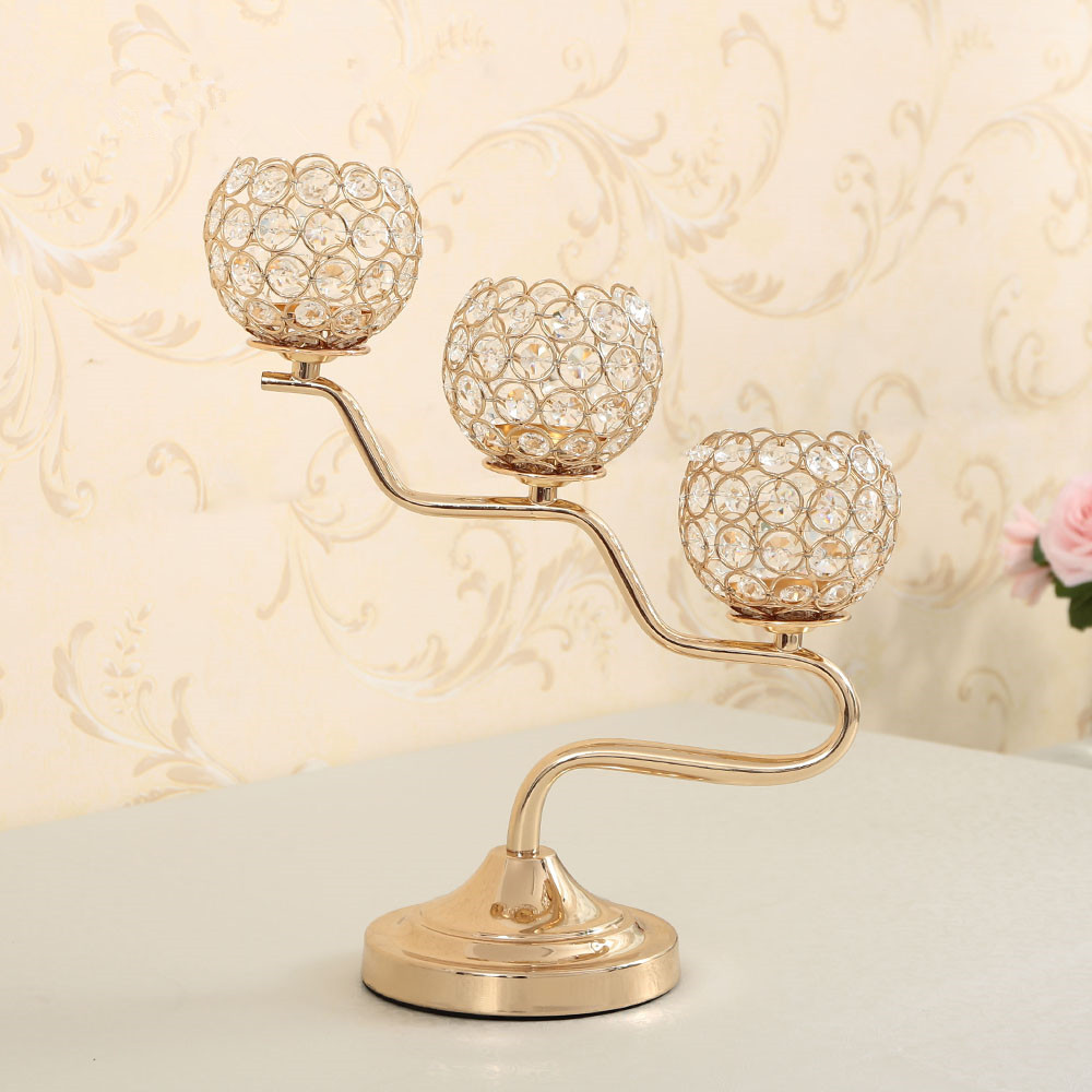 Gold Crystal Candelabra for New Year Home Decoration Wedding ...