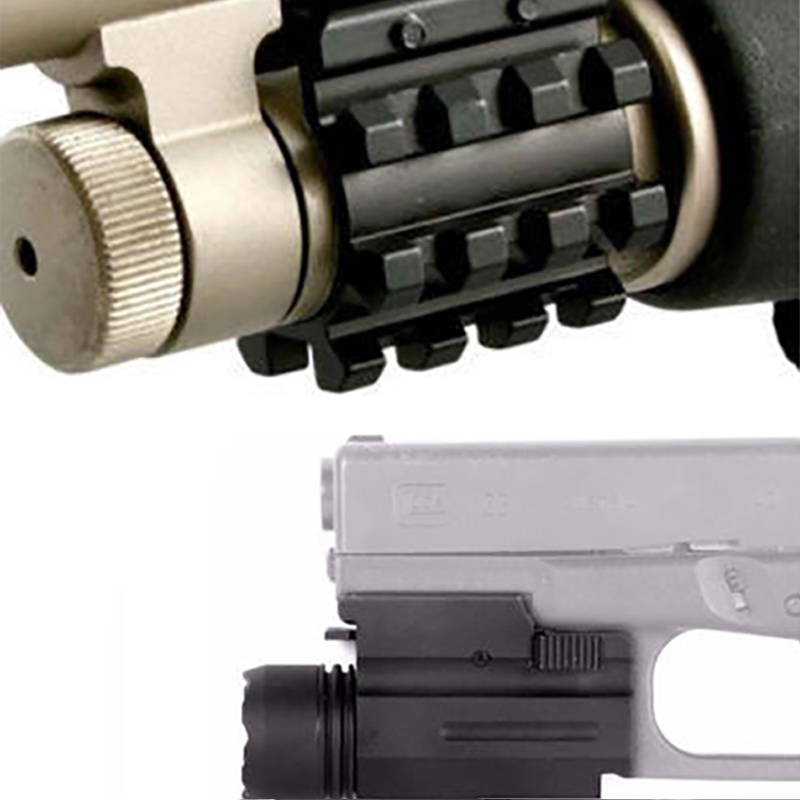 Tactical QD CREE LED flashlight for pisto and three-rail bucket mounted on most full-size pistol frame mounted for rifle