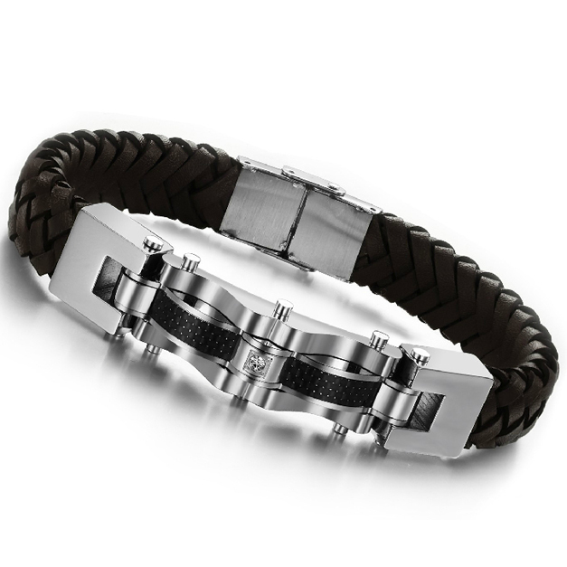 Interchangeable Bracelet Strand Ai6-S Stainless Steel Silver Gun Metal Links