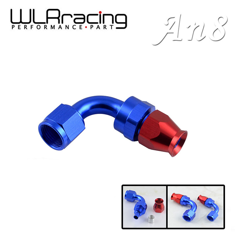 WLR RACING - AN8 AN-8 90 DEGREE REUSABLE SWIVEL TEFLON HOSE END FITTING AN8 WLR-SL6090-08-311