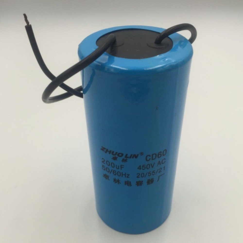 1pcs CD60 Motor Start Capacitor 200 MFD uF 250VAC HVAC Capacitor