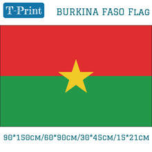 Free shipping National Day Olympic Games World Cup 90*150cm/60*90cm/30*45cm/15*21cm Burkina Faso National Flag national day cameroon gifts