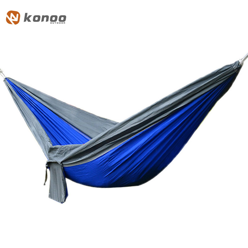 FF Outdoor 2 People Parachute Fabric Hammock Leisure Hamac Travel Double Person Hamak Widening Swing Sleeping Bed Tool Furniture s 2xl 2 colors 2015 new winter women down coat long slim turn down collar zipper jacket female belt pocket outwear zs308