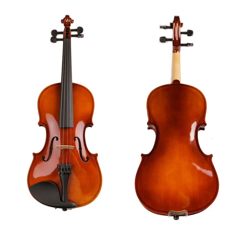 High Quality Solid Wood Violin with Case Bow Strings Violino For Beginner Students violin bow 4 4 high grade brazil wood ebony frog colored shell snake skin violino bow fiddle violin parts accessories bow