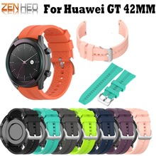 Smart Watch Band For Huawei GT 42mm Strap Silicone Sports Bracelet Elegant Edition Wrist Straps