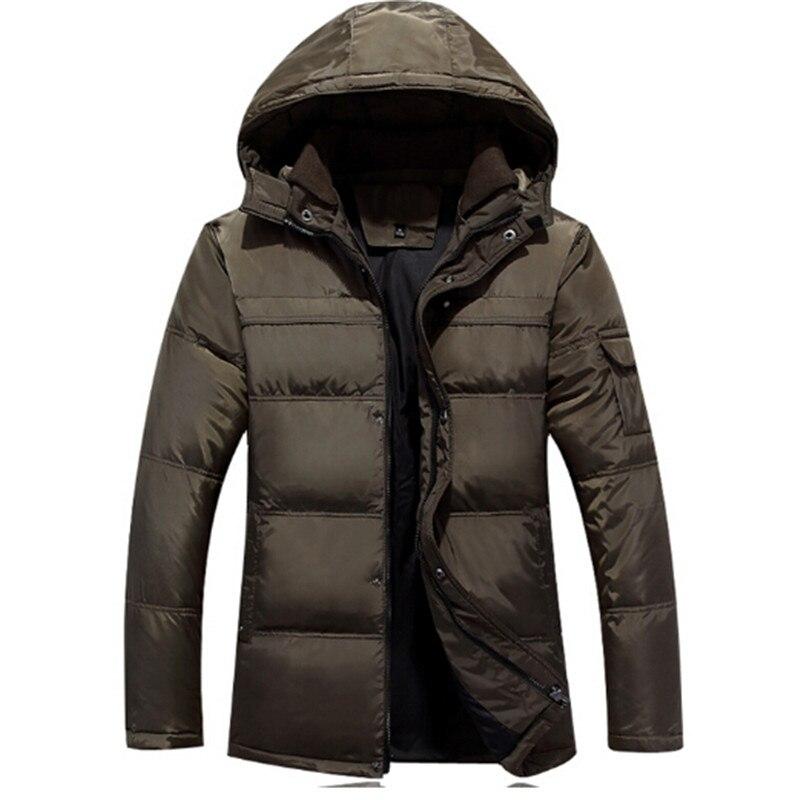 Warme Trendy Winterjas.Mannen Donsjack 2016 Fashion Trendy Dikke Witte Eendendons Winterjas