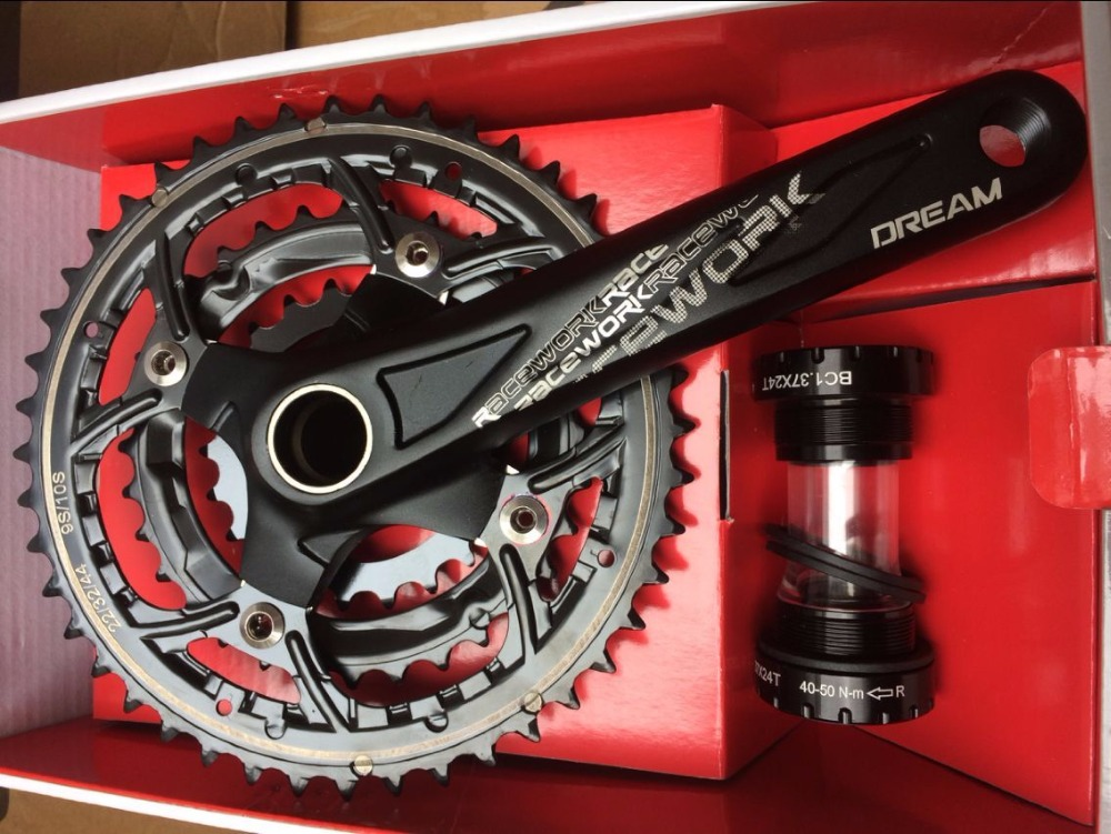 High Quality MTB Bike Bicycle Crank CNC Aluminum Alloy 22-44T Teeth Chainwheel Crank Crankset Sprocket Axle 9 10speed  Parts top high speed full teeth piston
