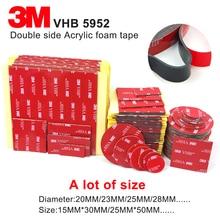 3 м 5952 высокая производительность для внутреннего использования на открытом воздухе черная 3 М VHB лента Водонепроницаемая акриловая пена двухсторонняя лента, высечки любого размера