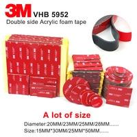 3 м 5952 высокая производительность крытый Открытый Применение черный 3 М VHB Водонепроницаемый Акриловые Пены Двойной, лента die вырезать любой ...