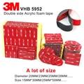 Fita acrílica impermeável do lado dobro da espuma do preto 3m vhb do uso exterior interno do elevado desempenho de 3m 5952, cortou todo o tamanho
